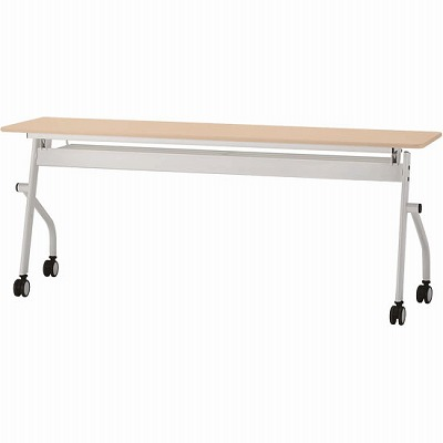 平行スタックテーブル 幅1800×奥行450mm ナチュラル