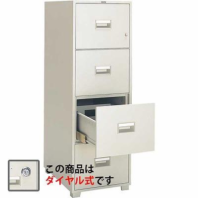 サガワ B4-4D 耐火キャビネット ダイヤル式