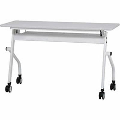 平行スタックテーブル 跳ね上げ式 幅1200mm ホワイト