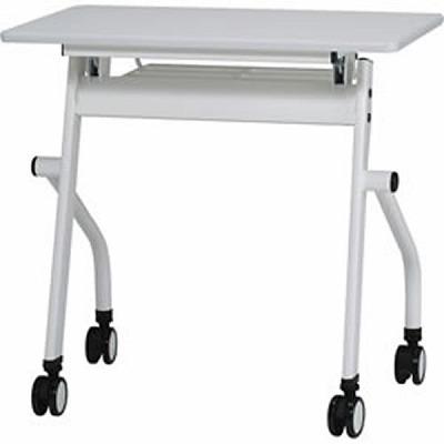 平行スタックテーブル 跳ね上げ式 幅750mm ホワイト