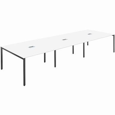 スリムミーティングテーブル ホワイト