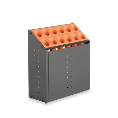 傘立て シュート式 オブリークアーバンC 前面パネル付き オレンジ 12本立