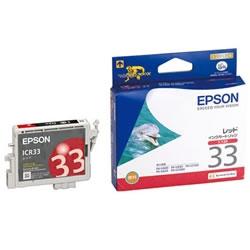 EPSON ICR33 インクカートリッジ レッド 純正