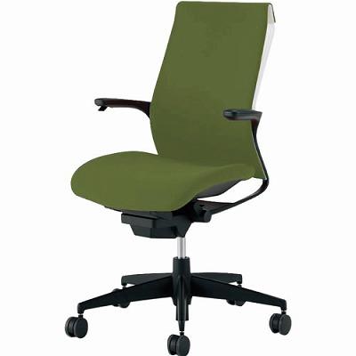オフィスチェア 「M4」 固定肘付き オリーブグリーン