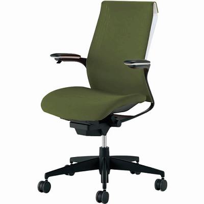 オフィスチェア 「M4」 可動肘付き オリーブグリーン