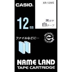 CASIO XR-12WE スタンダードテープ 12mm 白 黒文字