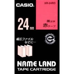 CASIO XR-24RD スタンダードテープ 24mm 赤 黒文字