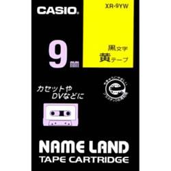 CASIO XR-9YW スタンダードテープ 9mm 黄 黒文字