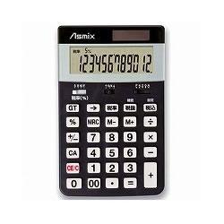 アスカ C1225BK 消費税電卓M ブラック
