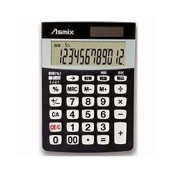 アスカ C1226BK 消費税電卓S ブラック