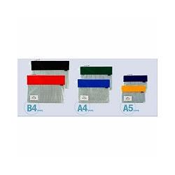 セキセイ AZ-2327-10 メッシュケース A4 ブルー