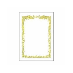 タカ印 10-1051 B5 賞状用紙 白地横書き用 10枚入り