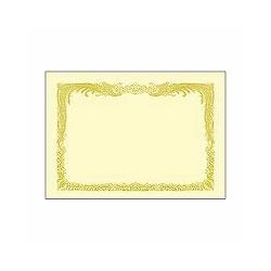 タカ印 10-1077 B4 賞状用紙 クリーム 縦書き用 10枚入り