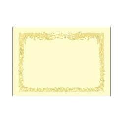 タカ印 10-1167 A4 賞状用紙 クリーム 縦書き用 100枚入り