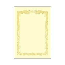 タカ印 10-1168 A4 賞状用紙 クリーム 縦書き用 100枚入り