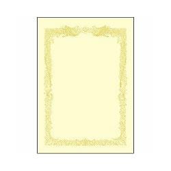 タカ印 10-1178 B4 賞状用紙 クリーム 横書き用 100枚入り