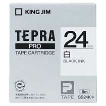 KINGJIM SS24K テプラ PROテープカートリッジ 白ラベル