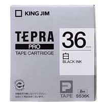 KINGJIM SS36K テプラ PROテープカートリッジ 白ラベル