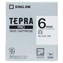 KINGJIM SS6K テプラ PROテープカートリッジ 白ラベル