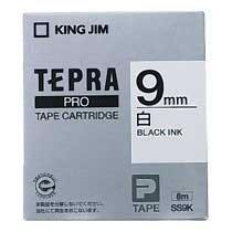 KINGJIM SS9K テプラ PROテープカートリッジ 白ラベル