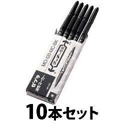 ゼブラ MO-120-MC-BK マッキー極細 油性マーカー両用 黒 10本セット
