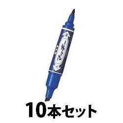 ゼブラ MO-150-MC-BL ハイマッキー 両用 青 10本セット