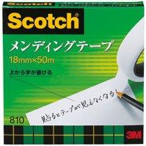 3M 810-3-18 スコッチ メンディングテープ 18mm×50m