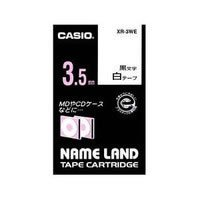 CASIO XR-3WE NAME LANDスタンダードテープ 3.5mm 白(黒文字) (117-3123)