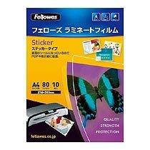 Fellowes 5404301 ラミネートフィルム 80μ A4 ステッカータイプ 216×303mm