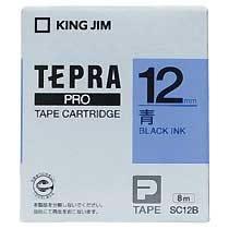 KINGJIM SC12B テプラ PROテープカートリッジ カラーラベル パステル 青