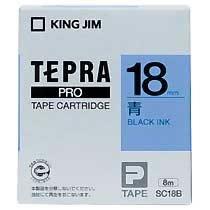 KINGJIM SC18B テプラ PROテープカートリッジ カラーラベル「パステル」