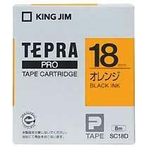 KINGJIM SC18D テプラ PROテープカートリッジ カラーラベル「パステル」