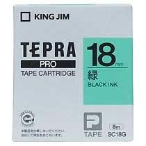 KINGJIM SC18G テプラ PROテープカートリッジ カラーラベル「パステル」