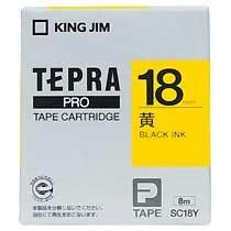 KINGJIM SC18Y テプラ PROテープカートリッジ カラーラベル「パステル」