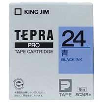KINGJIM SC24B テプラ PROテープカートリッジ カラーラベル「パステル」