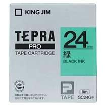 KINGJIM SC24G テプラ PROテープカートリッジ カラーラベル「パステル」
