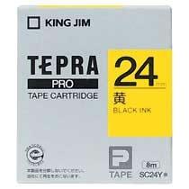 KINGJIM SC24Y テプラ PROテープカートリッジ カラーラベル「パステル」