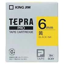 KINGJIM SC6Y テプラ PROテープカートリッジ カラーラベル「パステル」