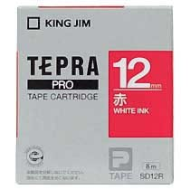 KINGJIM SD12R テプラ PROテープカートリッジ カラーラベル「ビビッド」