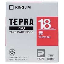 KINGJIM SD18R テプラ PROテープカートリッジ カラーラベル「ビビッド」
