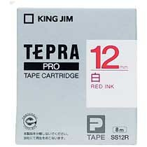 KINGJIM SS12R テプラ PROテープカートリッジ 白ラベル