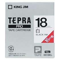 KINGJIM SS18KL テプラ PROテープカートリッジ 白ラベル「ロングタイプ」