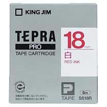 KINGJIM SS18R テプラ PROテープカートリッジ 白ラベル