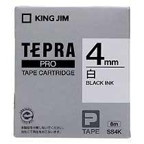 KINGJIM SS4K テプラ PROテープカートリッジ 白ラベル