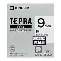 KINGJIM SS9KW テプラ PROテープカートリッジ 強粘着ラベル