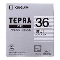 KINGJIM ST36K テプラ PROテープカートリッジ 透明ラベル