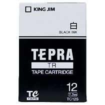 KINGJIM TC12S テプラ TRテープカートリッジ 白ラベル