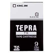 KINGJIM TC9S テプラ TRテープカートリッジ 白ラベル