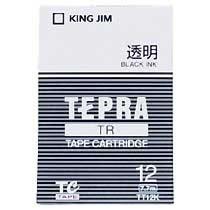 KINGJIM TT12K テプラ TRテープカートリッジ 透明ラベル