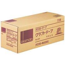 オカモト No.224-50 クラフトテープラミレス No.224 50mm×50m 50巻